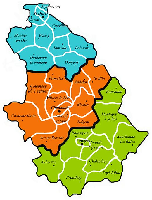 carte des paroisses